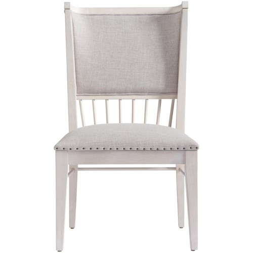 Paula Deen by Universal Bungalow Upholstered Seat and Back Windsor Back Chair with Nail Head Trim