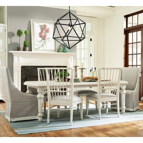 Paula Deen By Universal Bungalow Seven Piece Dining Set With Two 18