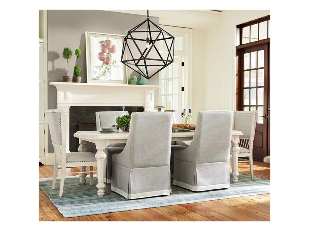 Paula Deen By Universal Cottage Seven Piece Dining Set With Two 18