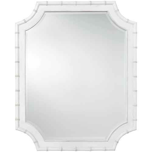 Paula Deen by Universal Bungalow Bamboo Mirror with Beveled Glass