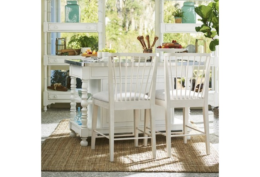 Paula Deen by Universal Cottage Kitchen Island with Windsor ...