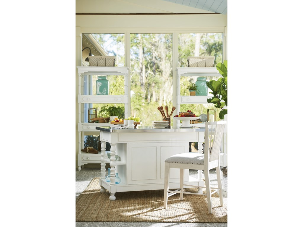 Paula Deen by Universal Bungalow Cottage Kitchen Island with Kitchen ...