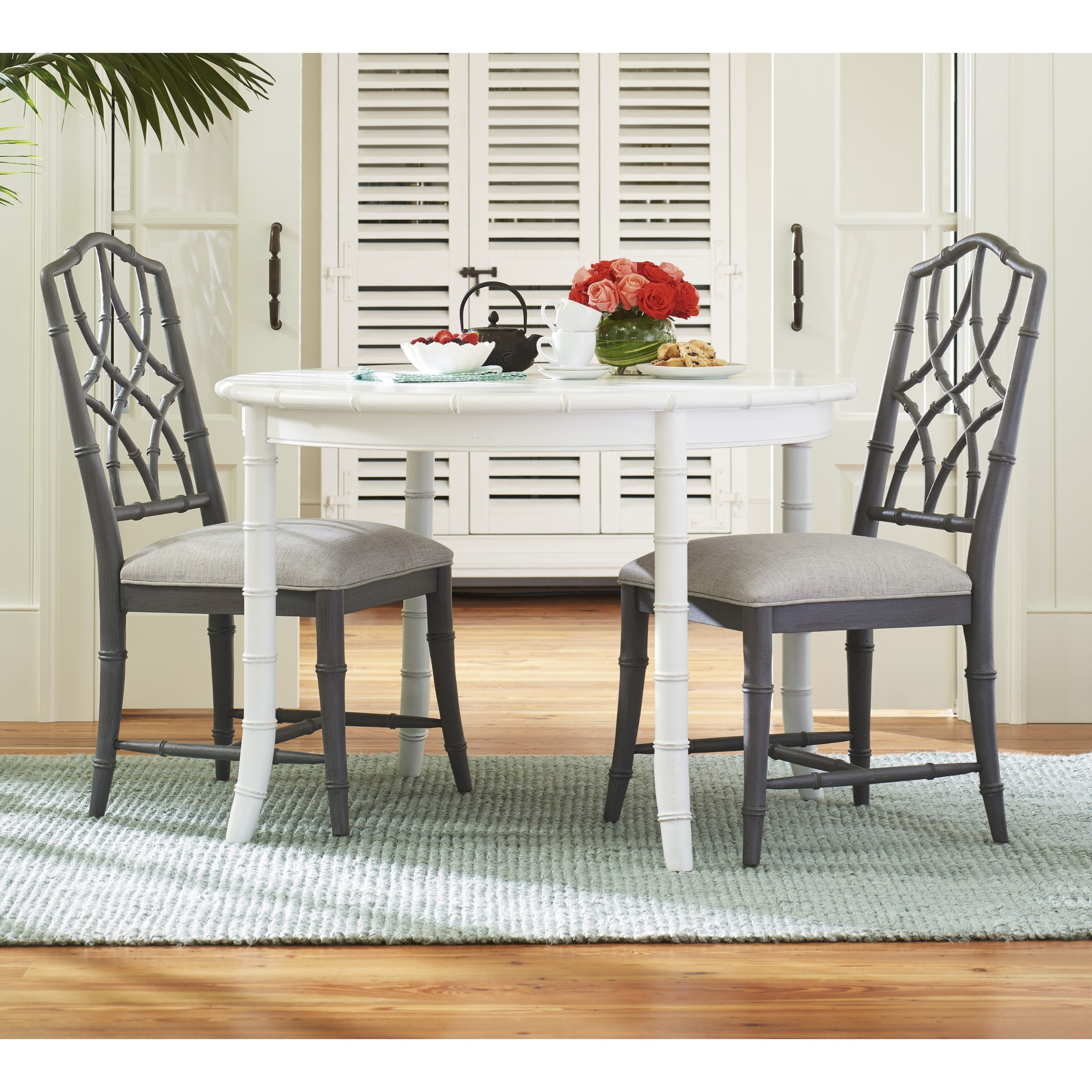 Paula Deen By Universal Bungalow Three Piece Cottage Dining Set With Bamboo  Inspired Framing
