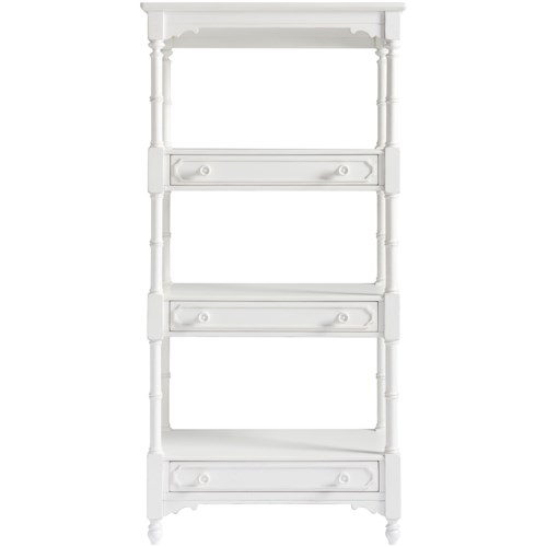 Paula Deen by Universal Bungalow Bungalow Cottage Etagere with a Bamboo Inspired Frame