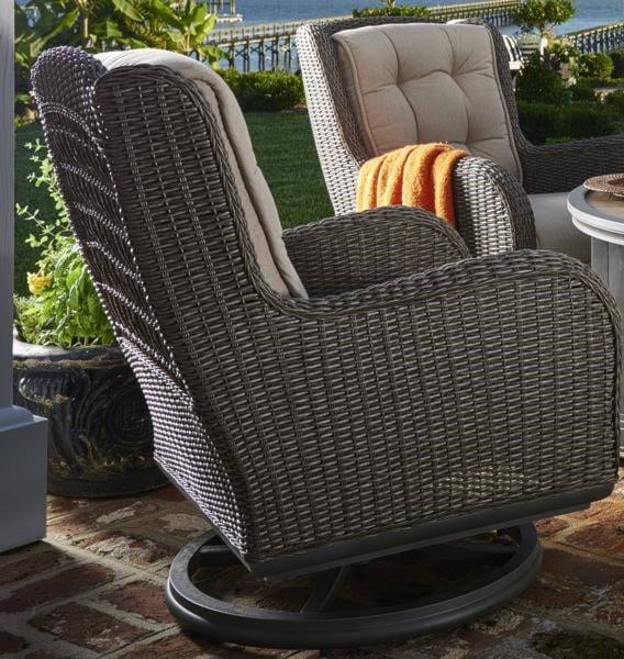 paula deen darling outdoor swivel lounge chair - morris home