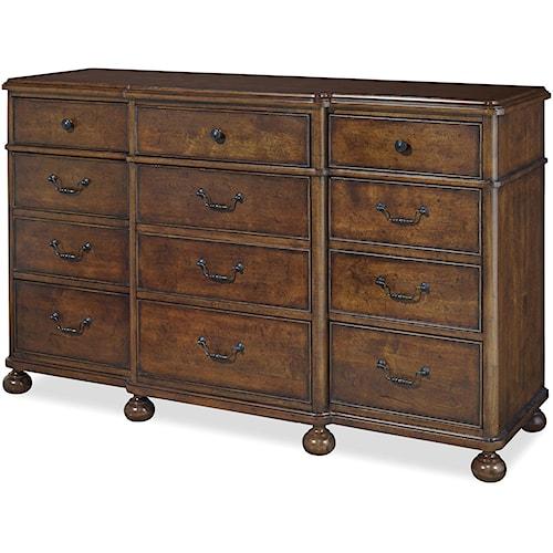 Paula Deen by Universal Dogwood Dresser with 9 Drawers