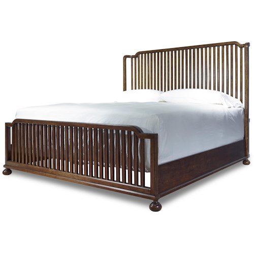 Paula Deen by Universal Dogwood The Tybee Island Queen Bed with Slat Headboard