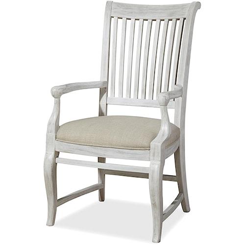 Paula Deen by Universal Dogwood Dogwood Arm Chair with Slat Back