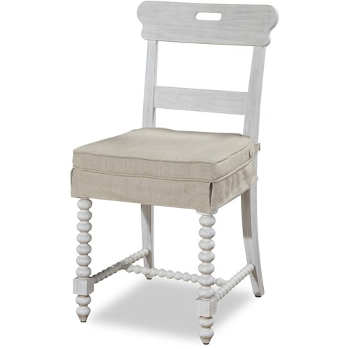 Paula Deen by Universal Dogwood Kitchen Chair with Slip-Covered Seat