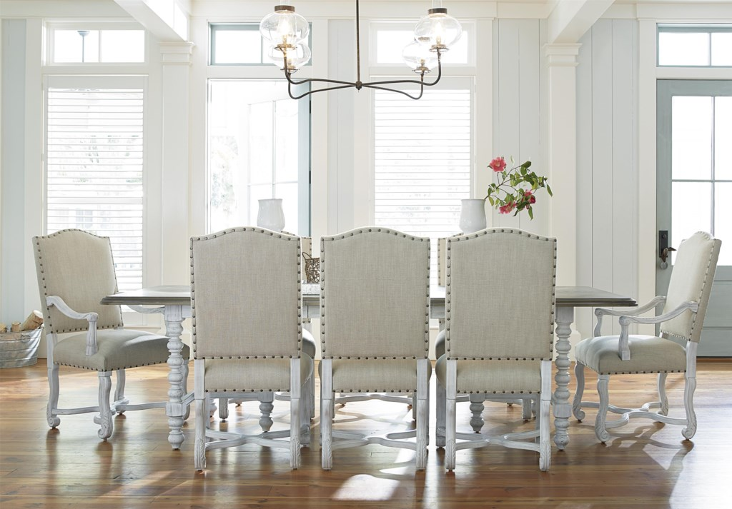paula deen by universal dogwood 9 piece dining set with paula deen by universal dogwood 9 piece dining set with upholstered chairs baer s furniture dining 7 or more piece set
