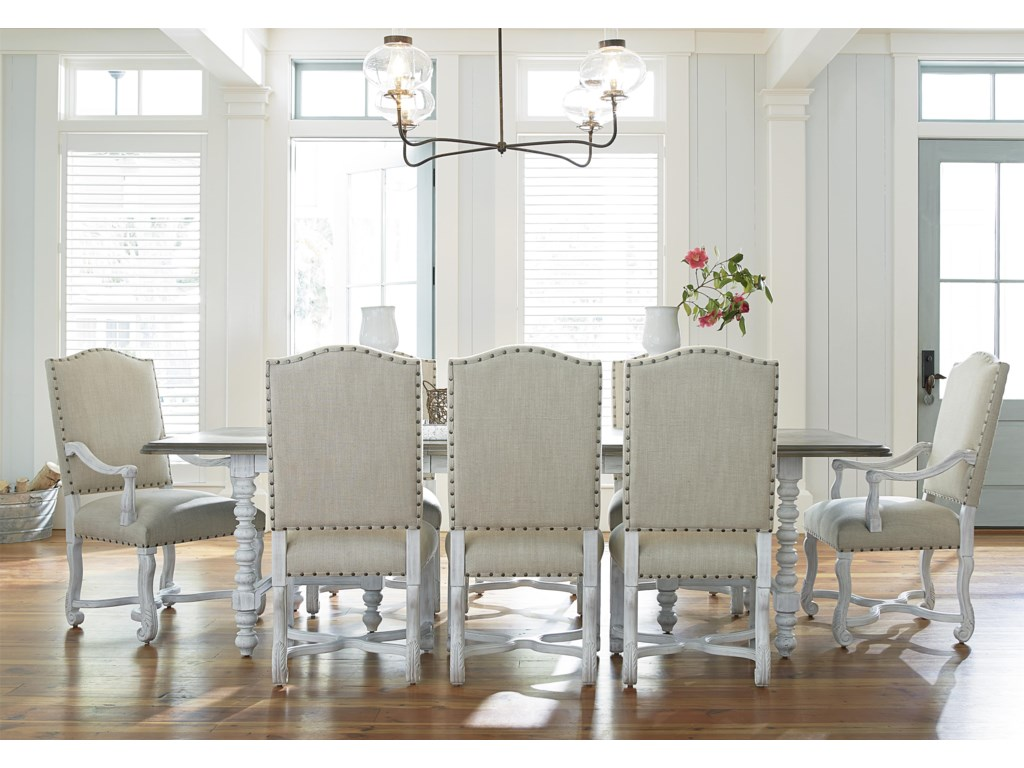 Paula Deen by Universal Dogwood 9 Piece Dining Set with Upholstered ...