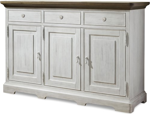 Paula Deen by Universal Dogwood Credenza with 3 Doors