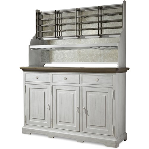 Paula Deen by Universal Dogwood Credenza with Wine Bottle Rack and Stemware Storage