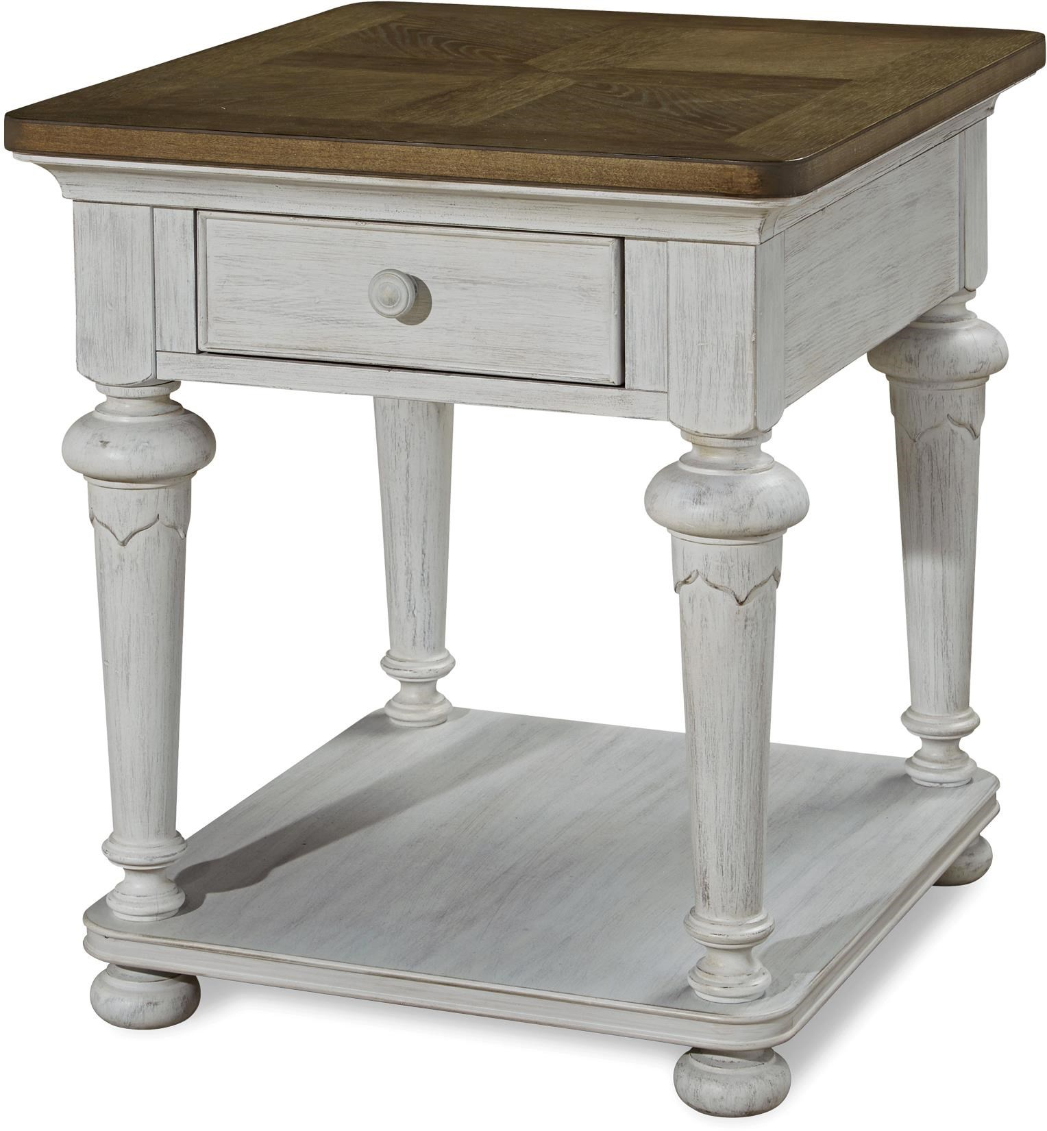 Paula Deen By Universal Dogwood End Table With Shelf