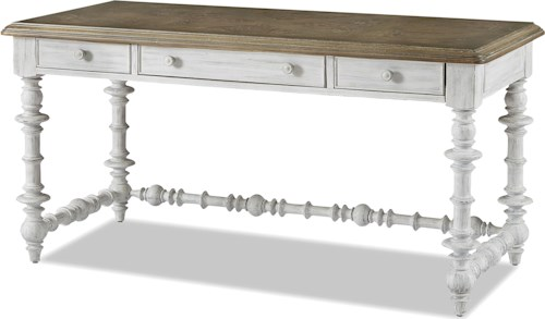 Paula Deen by Universal Dogwood The Note-Worthy Desk with Spool Turn Detail