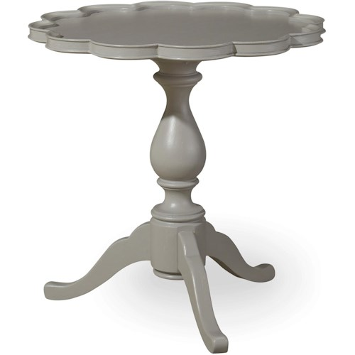 Paula Deen by Universal Dogwood Pie Crust Table with Pedestal Base