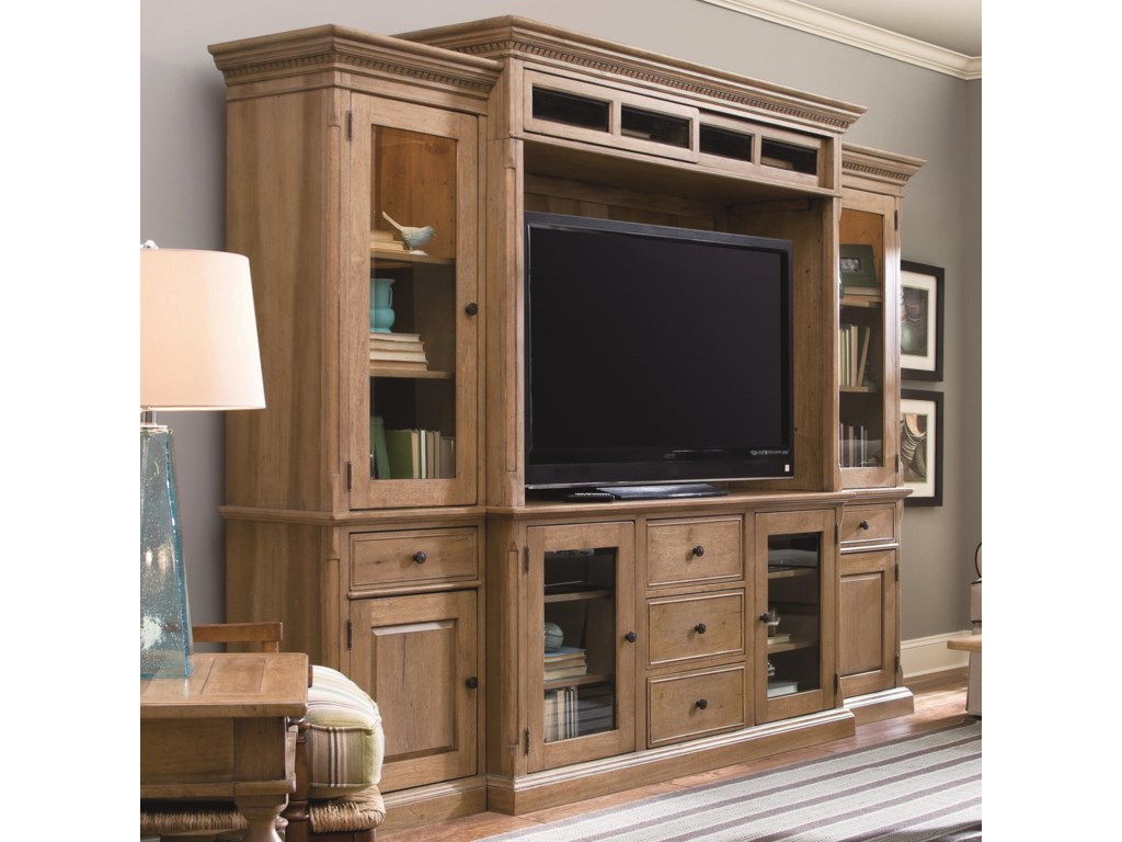 Universal down home entertainment console wall unit