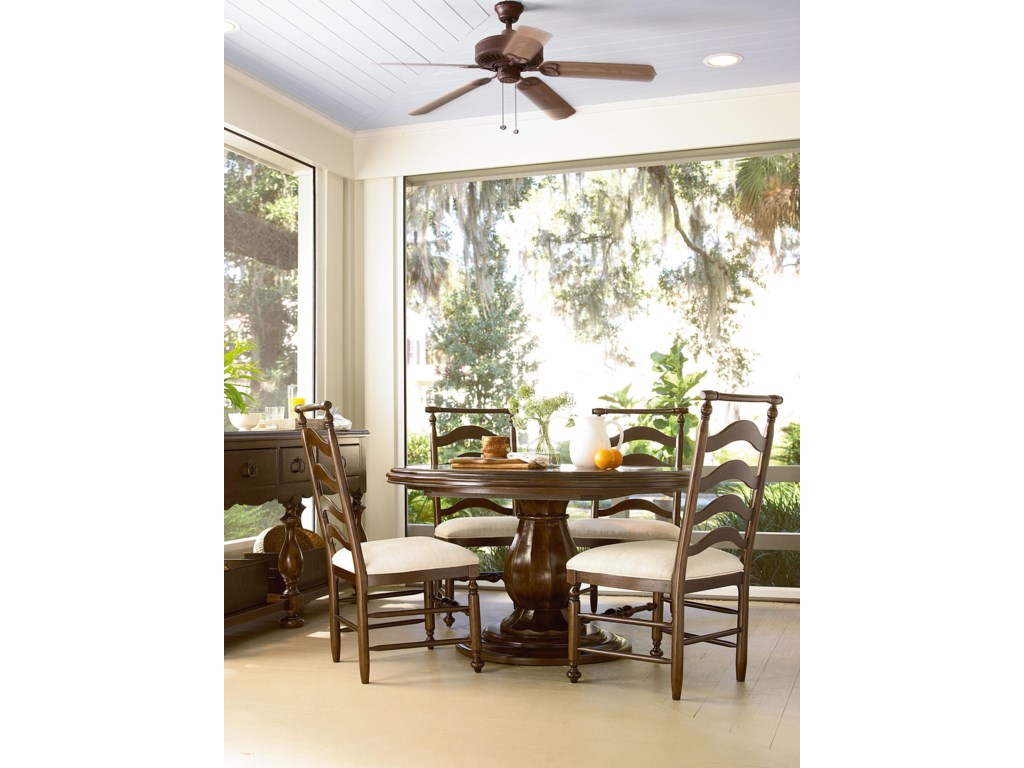 Shown with River House Side Chairs and Round Table