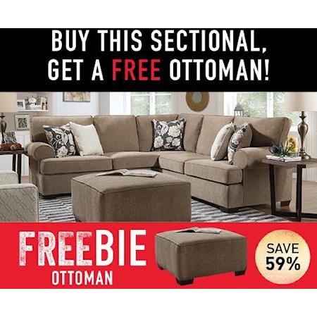 Byron Sectional Sofa with Freebie!
