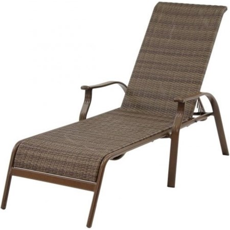 Woven Stackable Sling Chaise Lounge