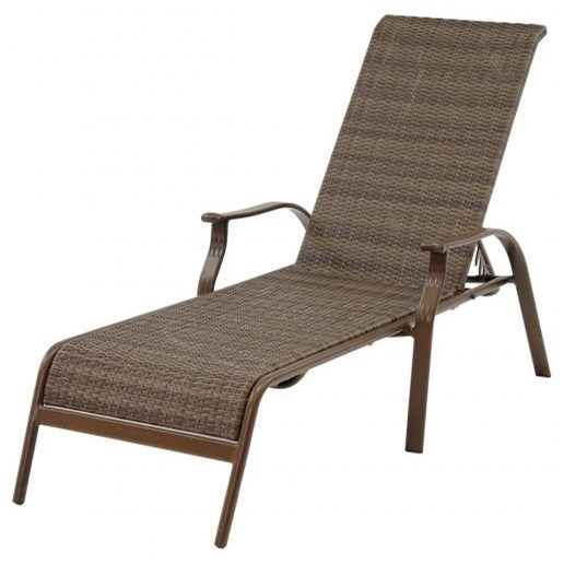 Pelican Reef Panama Jack Island Cove Woven Stackable Sling Chaise Lounge