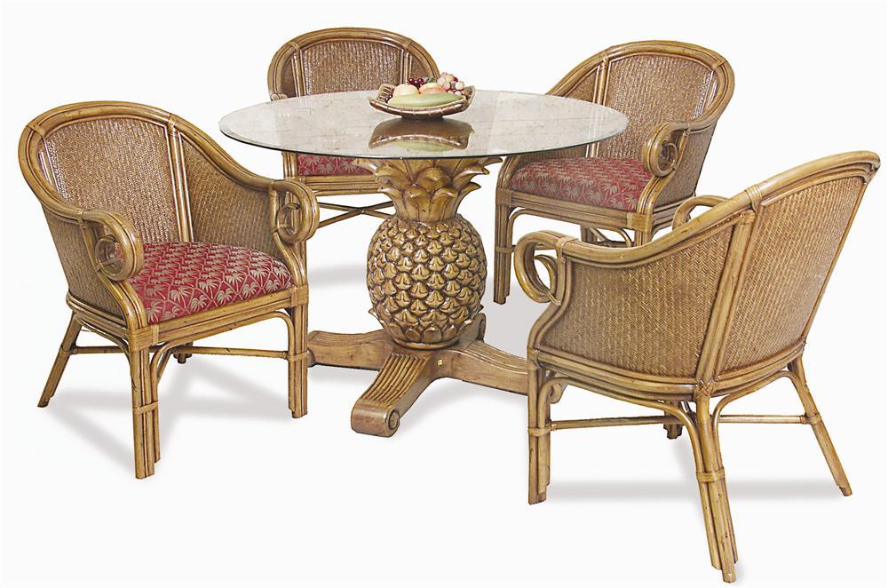 Pelican Reef Ocean Reef Pineapple Table U0026 Club Chair Set   Baeru0027s Furniture    Dining 5 Piece Set