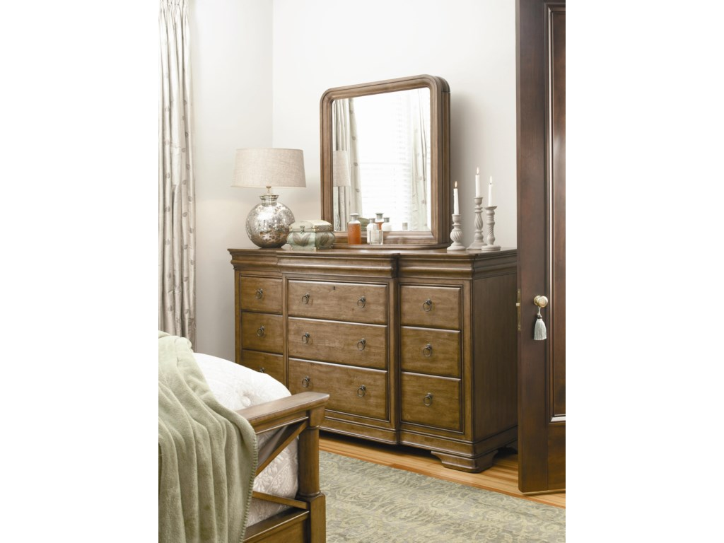 Universal New LouDresser and Storage Mirror Combo