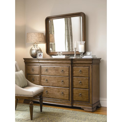 Universal New Lou Dresser and Mirror Combo