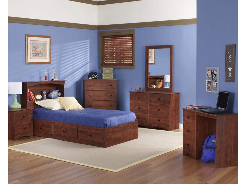 Perdue 11000 SeriesTwin Bookcase Mates Bed