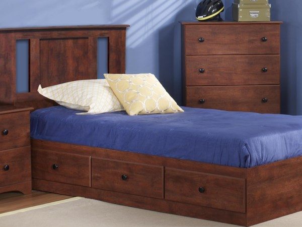 Twin Panel Bed with Storage Package