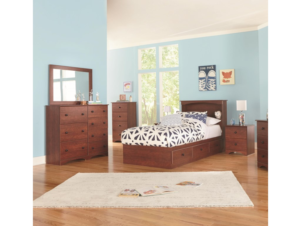 Perdue 11000 SeriesTwin Bookcase Bed with Storage Package