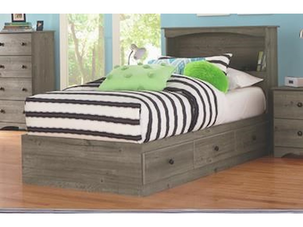 Perdue 13000 SeriesFull Mates Storage Bed with Paneled Headboar
