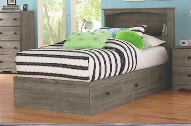 Perdue 13000 Series 13032b 776 Full Size Bookcase Headboard And Mates Storage Base Sam Levitz Furniture Captain S Beds