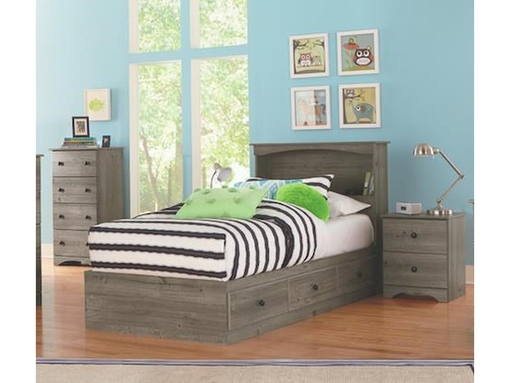 Perdue 13000 Series5 Piece Full Storage and Bookcase Headboard