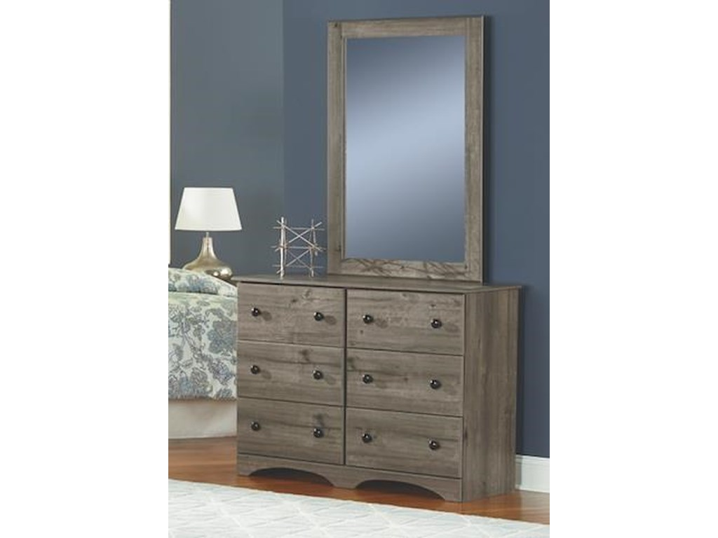 Perdue 13000 Series6 Piece Full Storage and Bookcase Headboard