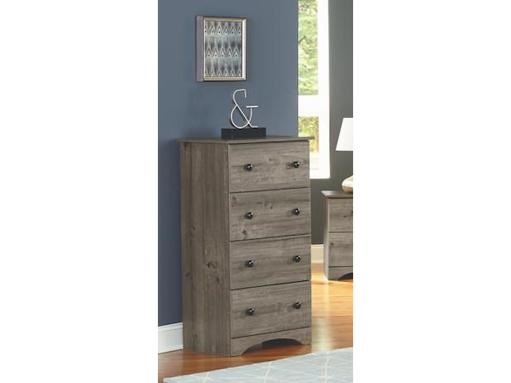 Perdue 13000 Series4 Piece Twin Storage and Bookcase Headboard