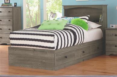 Perdue 13000 Series 13763 Twin Storage Bed Base Sam Levitz Furniture Captain S Beds