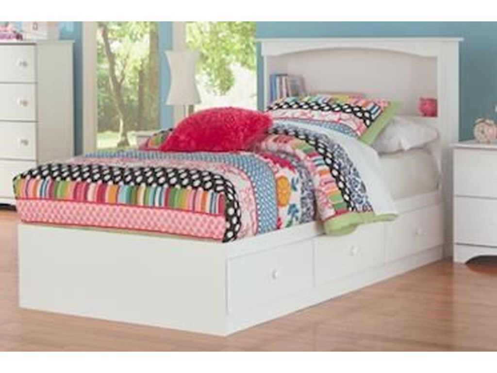 Perdue 14000 SeriesFull Mates Storage Bed with Paneled Headboar