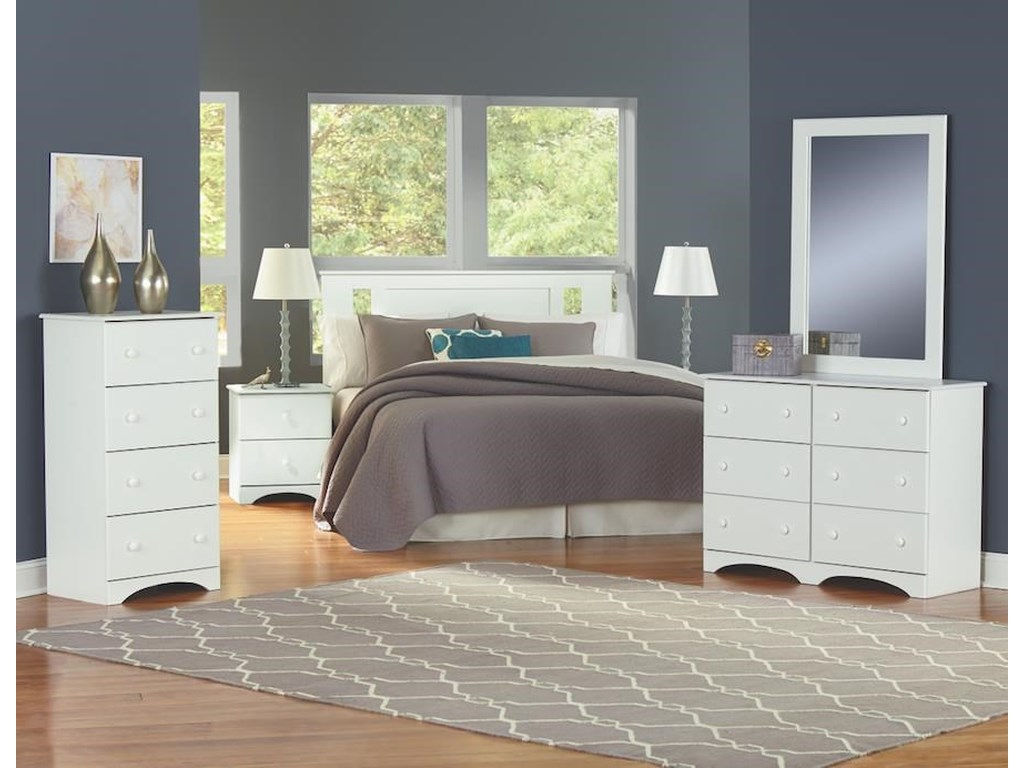 Perdue 14000 Series6 Piece Full Storage Bedroom Group