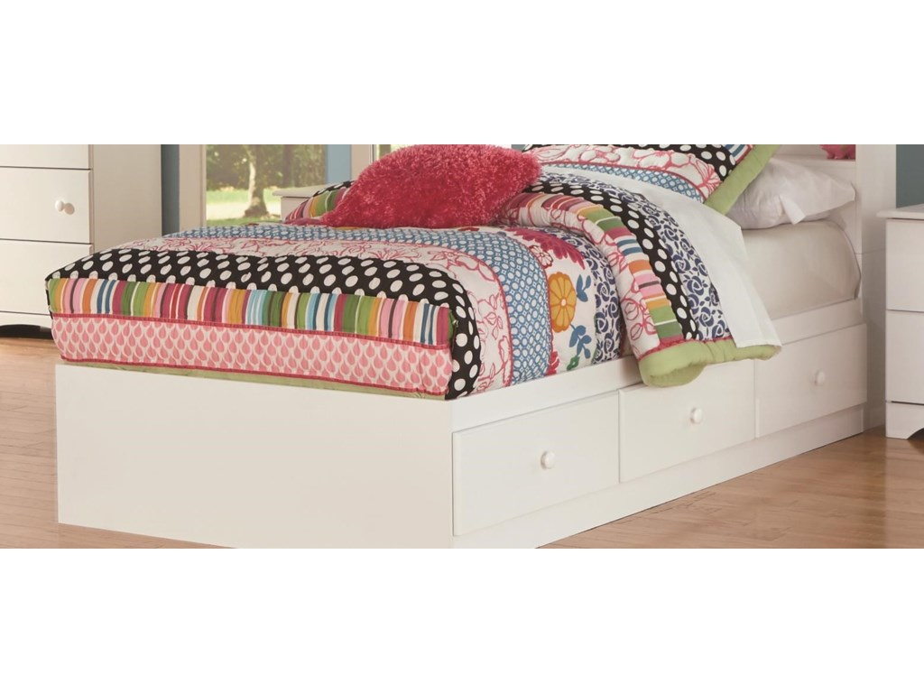 Perdue 14000 SeriesFull Panel Bed with Storage Package