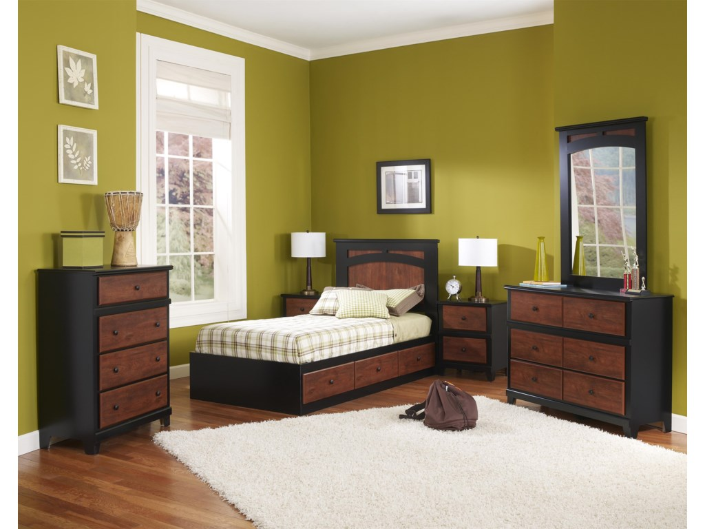 Perdue 49000 Series6-Drawer Dresser & Mirror Set