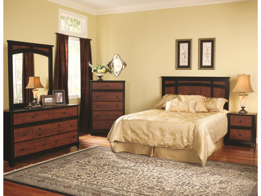 Perdue 49000 Series7-Drawer Dresser & Landscape Mirror