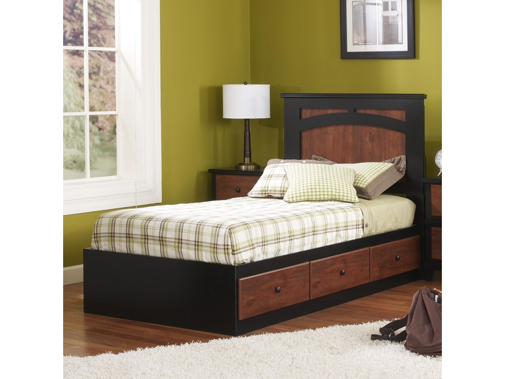 Perdue 49000 SeriesTwin Mates Bed with Panel Headboard