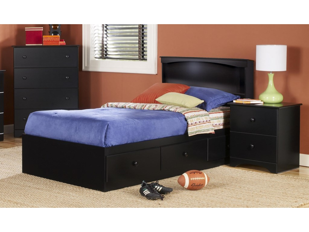 Perdue 5000 SeriesTwin Bookcase Bed with Storage