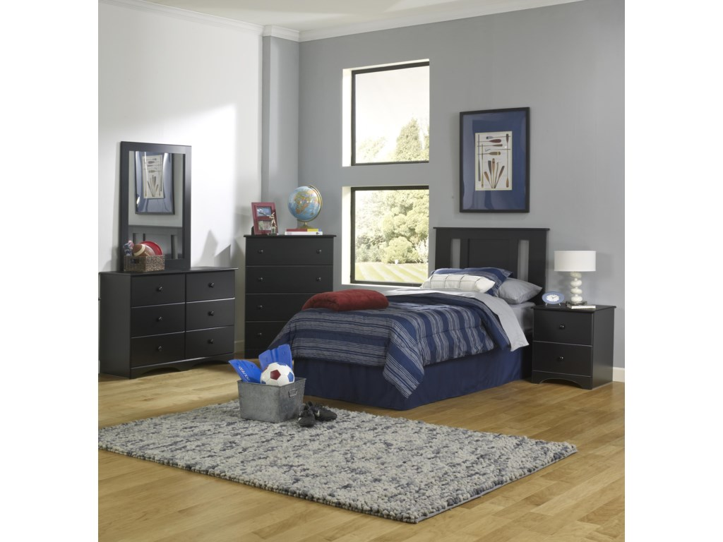 Perdue 5000 SeriesTwin Panel Bed with Storage Base Package