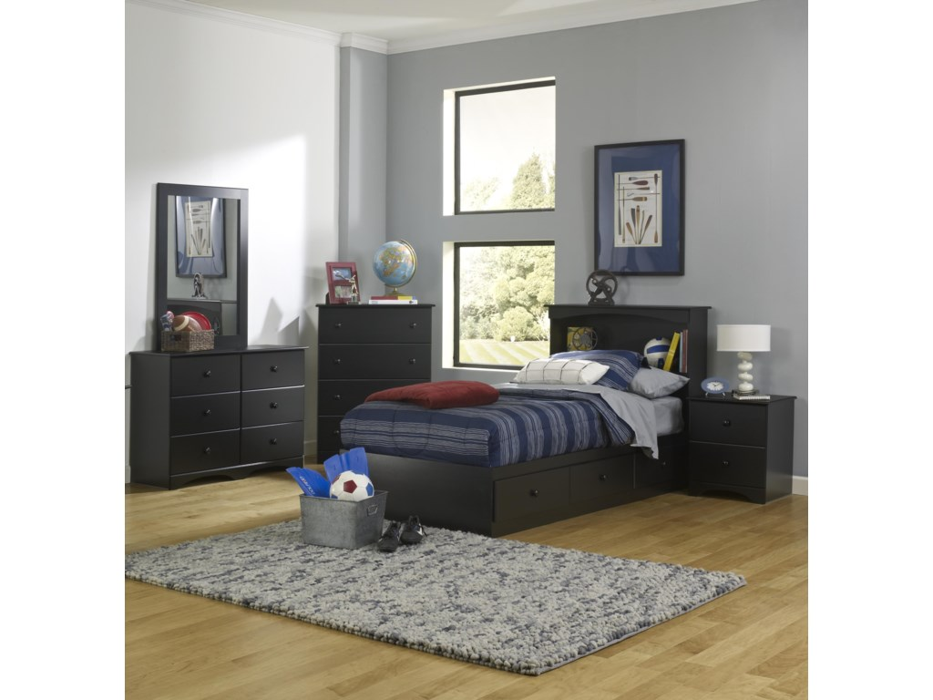 Perdue 5000 SeriesTwin Bookcase Bed with Storage Package