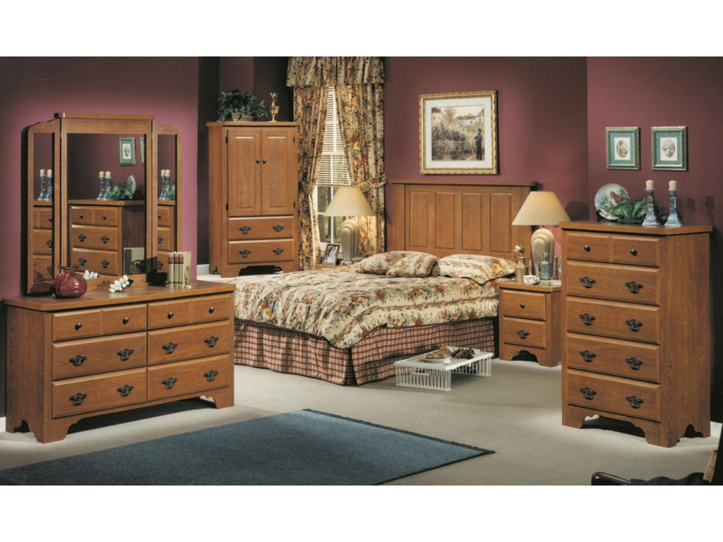 Perdue 54000 Series6-Drawer Dresser & Wing Mirror Set