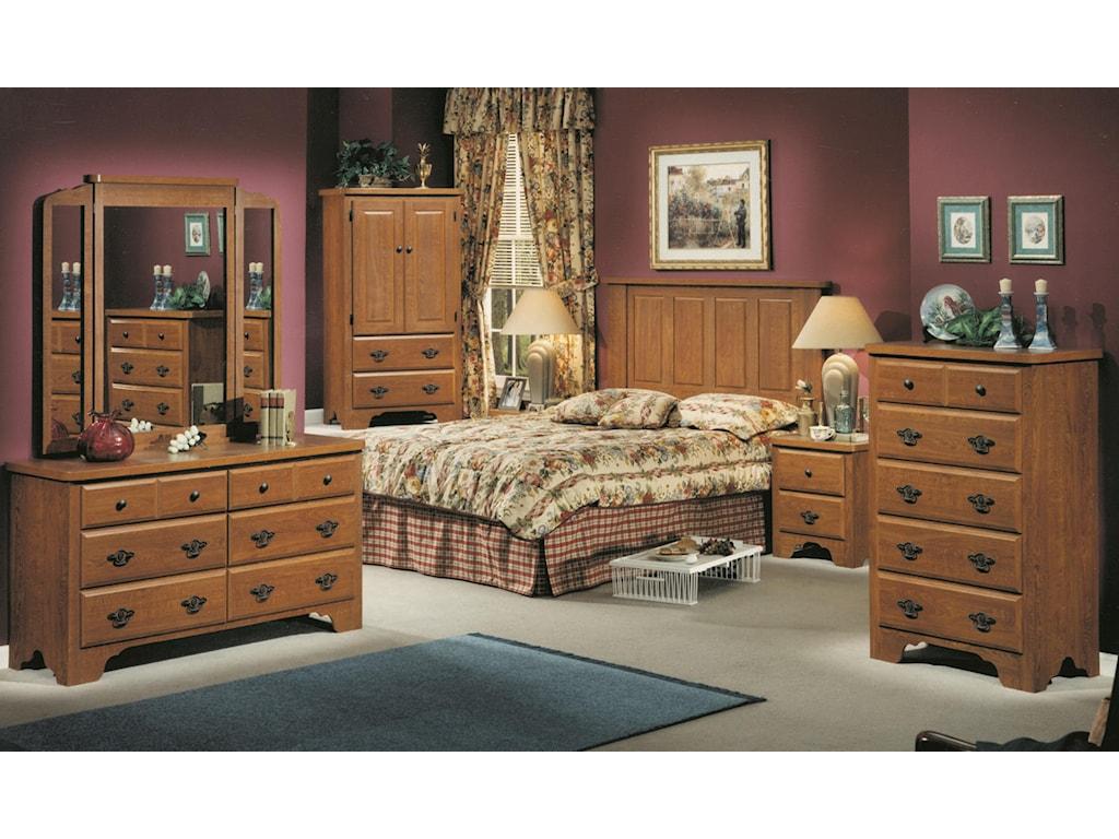 Perdue 54000 Series6-Drawer Dresser & Wing Mirror Set