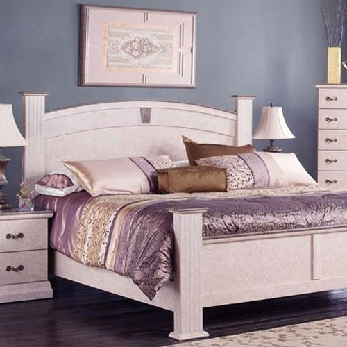 Perdue Sicilian Marble King Faux Marble Arched Poster Headboard ...