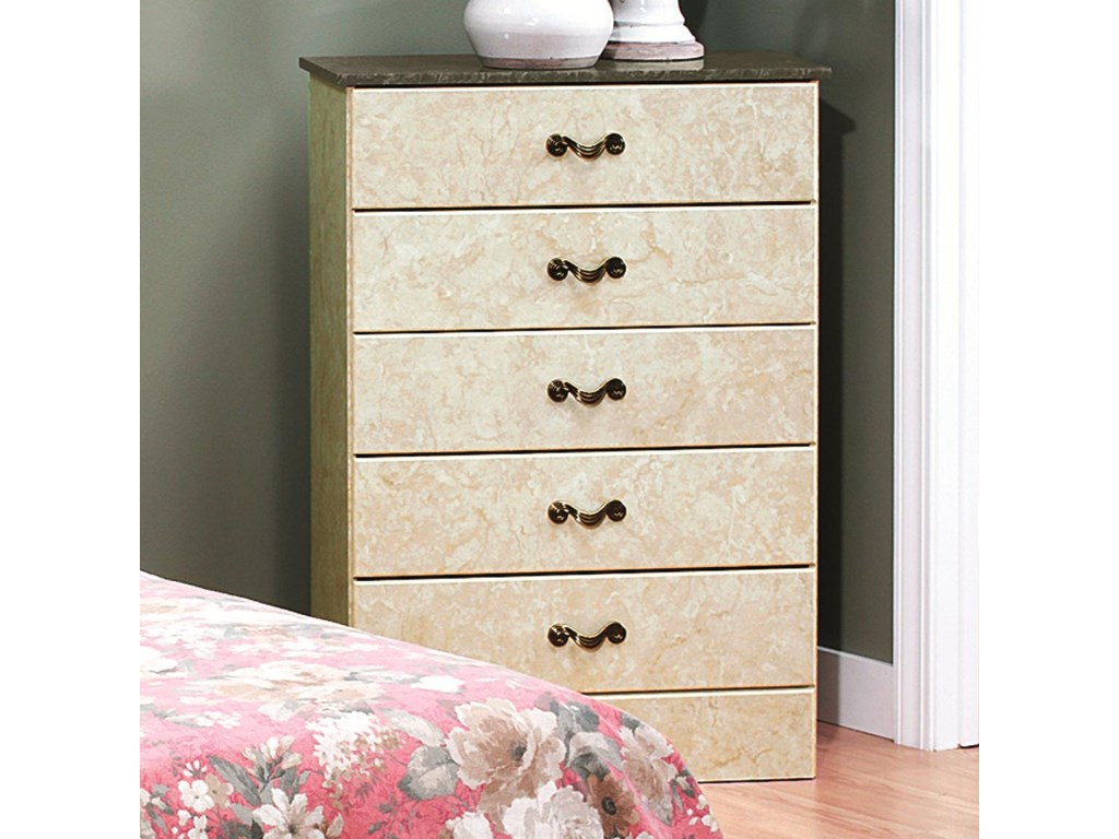 Perdue Sicilian Marble5-Drawer Chest